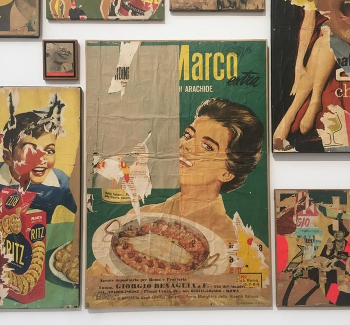 Mimmo Rotella in the Galleria Nationale d'Arte Moderna e Contemporanea, Rome